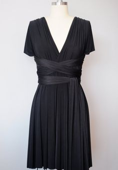 Black Infinity Dress Convertible Formal MultiwayAtomAttire***my Very fave for My stand up with me girl - not black but  Dark Burgandey, Emerald Green, or maybe a Cream, Pale Pink (Tea or cocktail) length comes in a lot of colors and very affordable. I think I would like the cream or pale pink best.*****D