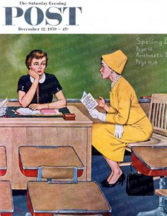 Parent-Teacher Conference by Amos Sewell, December 12, 1959, The Saturday Evening Post.