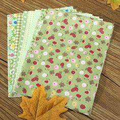 8pcs 20x30cm Cotton Green Series Sewing Fabric Dolls Purse Handwork DIY Patchwork Cloths