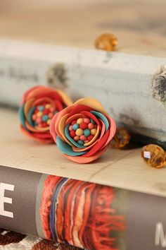 Indian red   Delicate and colorfull earrings (Sculpey)   Zuzana Liptáková   Flickr