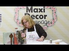 Maxi Decor Μεταφορά Εικόνας Decoupage (Ντεκουπάζ) - YouTube Decoupage, Craft Videos, Diy And Crafts, Make It Yourself, Country, Youtube, Decor, Licence Plates, Jars