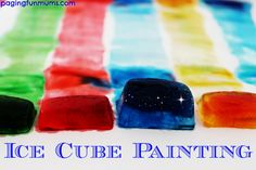 Ice Cube Painting :http://pagingfunmums.com/2014/07/11/ice-cube-painting/
