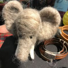 Adorable felted animals by Worker Bee Studios at Holiday Market Worker Bee, Holiday Market, Felt Animals, Gift Guide, Studios, Elephant, Lovers, Marketing, Elephants