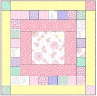 Quick quilt pattern Maybe change it up with rectangle center Baby Quilts Easy, Baby Girl Quilts, Girls Quilts, Kid Quilts, Baby Quilt For Girls, Quilt Baby, Baby Boy, Quilting Projects, Quilting Designs