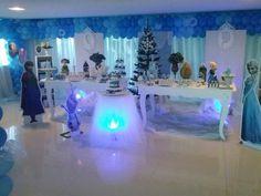 Decoracao de festa tema Frozen