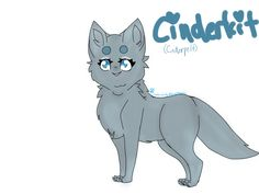 Cinderpelt as a kit for a contest. (@b3rrystumpytail) (not sure how I feel about the drawing tho lol)