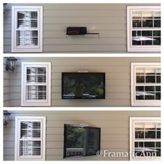 Outdoor Tv Mount Mounting Installation Wall Mounted Home Theater Infinite Tvs Charlotte Theaters