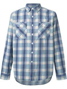 21be534338d6 Men s Blue Plaid Cotton-wool Workshirt