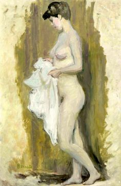 Pierre Bonnard (1867-1947) Nu debout à la serviette
