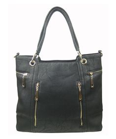 Another great find on #zulily! Black Pocket Convertible Shoulder Bag by AR New York #zulilyfinds