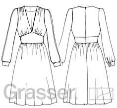 Выкройка платья, модель №228, магазин выкроек grasser.ru