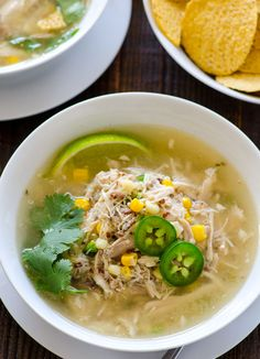 Lime Chicken Quinoa Soup. #quinoa #superfood Warning: the recipe makes a lot, uses whole chicken and makes a large batch of chicken stock as well. It's more of a meal type of soup. Can easily cut the recipe in half or freeze the leftovers.