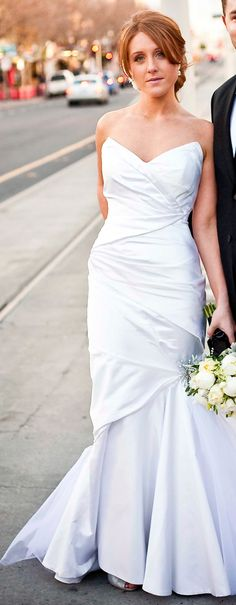 Nicole in Diamonde gown by Baccini and Hill