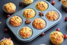 Reteta pe www. Muffins, Deserts, Breakfast, Food, Morning Coffee, Muffin, Desserts, Eten, Postres