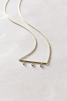 Diamond Lumiere Necklace in 14k Gold - anthropologie.com