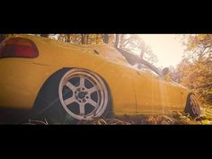 #honda #delsol #crxdelsol #crx #bagged #air #cleanbay #romania #bags #yellow #lambo