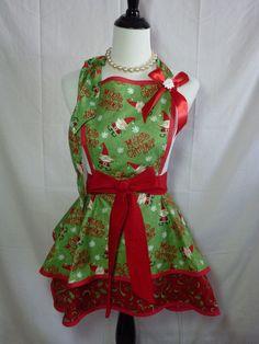 Merry Christmas Santa Clause Womens Festive hostess by SedonaStyle, $38.00