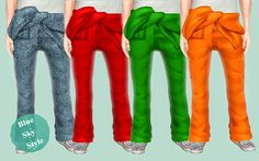 My Sims 3 Blog: Jumpsuit Pants for Males by Blue Sky Style