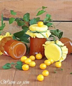 Wiem co jem - Dżem mirabelkowy z miętą Polish Recipes, Canning Recipes, Tortellini, Preserves, Food And Drink, Eggs, Cheese, Homemade, Orange