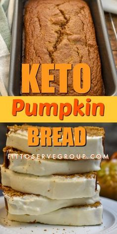 When it comes to pumpkin season nothing beats the flavor of keto pumpkin bread in my book. Its the cozy sweater season to enjoy a generous slice of this low carb pumpkin bread with cream cheese frosting while sipping on steaming hot coffee. Desserts Keto, Keto Friendly Desserts, Keto Snacks, Dessert Recipes, Atkins Desserts, Quick Keto Dessert, Keto Friendly Bread, Diabetic Snacks, Snacks Recipes