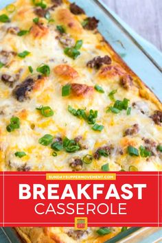 This easy sausage breakfast casserole with crescent rolls is the perfect easy breakfast recipe! I promise it will become your favorite. #SundaySupper #breakfast #breakfastcasserole #sausage #breakfastsausage #sausagecasserole #breakfastrecipe Crescent Roll Breakfast Casserole, Breakfast Tacos, Breakfast Casserole Sausage, Breakfast Dishes, Breakfast Ideas, Breakfast Recipes, Homemade Pancakes, Crescent Rolls, Casserole Recipes