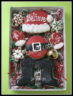 .Santa Believe sugar cookies boxed set
