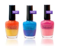 These playful nail polishes change color based on your body temperature, your mood, the heat of your cup of coffee, or even while you're holding an ice cold lemonade! In The Mood colors will continue changing back and forth for as long as you wear them