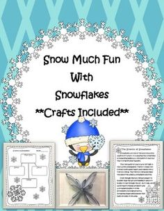 This is a science activity on snowflakes. There is a snowflake graphic organizer, reading passage with comprehension questions, and QR code activity pages with a snowflake video. There are detailed instructions with pictures for 2 awesome snowflake crafts as well.