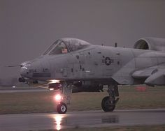 A-10 Warthog taxiing on a sortie in Yugoslavia. The A-10 and OA-10 Thunderbolt IIs are the first Air Force aircraft specially designed for close air support of ground forces. They are simple, effective and survivable twin-engine jet aircraft that can be used against all ground targets, including tanks and other armored vehicles. (U.S. Air Force photo)