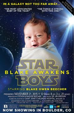 The Force Awakens Birth Announcement