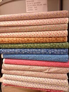 Selección telas patchwork a 6€/m antes 16€,venta en nuestra tienda de Palma o por telefono 971250635 www.bordadosypatchworkamelia.com