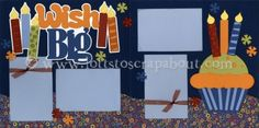 Wish Big (Boy) Scrapbook Page Kit [wishbigboy12] - $6.99 :: Lotts To Scrap About - Your Online Source for Scrapbook Page Kits!