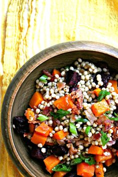 Bacon Beet and Butternut Squash Sorghum Salad from Cooking With Books @Marnely Rodriguez-Murray