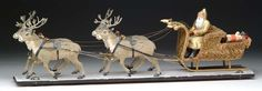 Vintage Candy, Candy Containers, Antique Christmas, Old And New, Reindeer, Art Pieces, The Past, German, Christmas Decorations