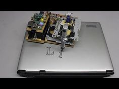 Plotter made of two old CD drives, a servo and a Raspberry Pi - YouTube