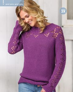 Stamford Pullover - free pattern, Crochet autumn 2016                                                                                                                                                                                 More