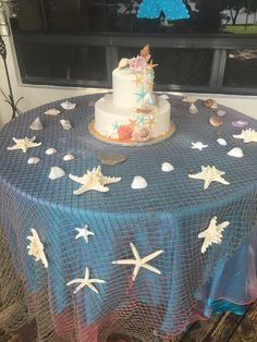 Under the Sea Baby Shower Food Little Mermaid Baby, Little Mermaid Parties, Mermaid Bridal Showers, Ocean Baby Showers, Mermaid Theme Birthday, Cake Birthday, Birthday Ideas, Baby Girl Shower Themes, Ocean Theme Baby Shower