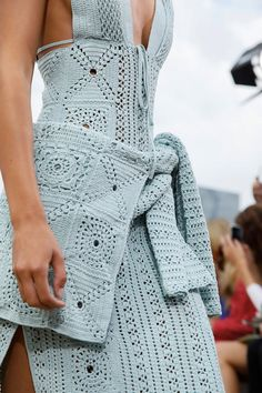 Fashion Trend for Bohemian style Knitted Crochet. - Top at Celine PFW, - Dress at Jonathan Simkhai NYFW, - Pants at Simona Marziali MFW, - Skirt at Altuzarra PFW Spring Summer More. Knitwear Fashion, Knit Fashion, Runway Fashion, High Fashion, Moda Crochet, Knit Crochet, Formal Dresses With Sleeves, Bohemian Mode, Bohemian Style
