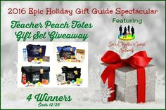 New Age Mama: 2016 Epic Holiday Gift Guide Teacher Peach Totes Gift Set #Giveaway @las930 @TeacherPeach123 #SMGN