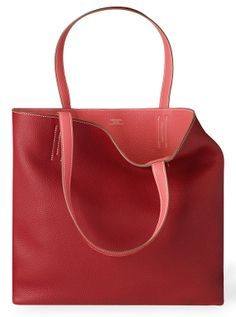 Hermes - Double Sens, Red & Pink leather shopper bag - Pic1