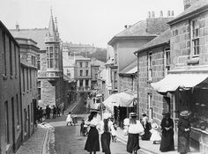 St Ives Cornwall, Devon And Cornwall, Cornwall England, England Uk, Street Look, Main Street, Old Pictures, Old Photos, Vintage Photographs