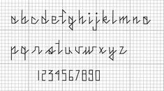 free cross stitch font.
