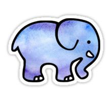 Ivory Ella Watercolor  Sticker