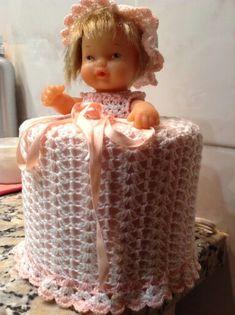 Gloria Blay Mas. Vestido muñeca para papel higienico.