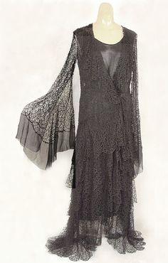 "jessie franklin turner | Silk lace/satin evening dress, c.1930. Label: ""Jessie Franklin Turner ..."