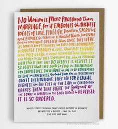 Love Wins Card/ LGBT Wedding Card No. 274-C by emilymcdowellstudio on Etsy https://www.etsy.com/listing/262841271/love-wins-card-lgbt-wedding-card-no-274