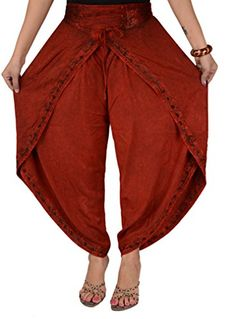 Skirts 'N Scarves Women's Rayon Embroidered Aladdin Dhoti / Harem Pant (Maroon) Skirts 'N Scarves http://www.amazon.com/dp/B00HPUD0D2/ref=cm_sw_r_pi_dp_Qw28wb02BY7BR
