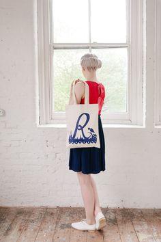 Rob Ryan for Alphabet Bags 'R'. $24.30, via Etsy.
