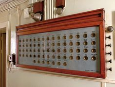 The Staff Bellboard, which can still be seen today in the lower corridor of the Castle