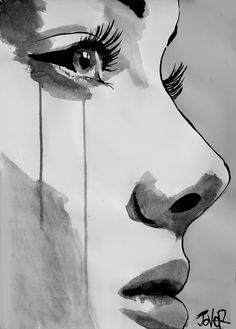 "Artist: Loui Jover; Pen and Ink, 2012, Drawing ""awakening"""